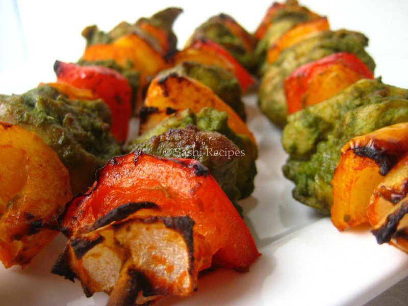 Hariyali Chicken Kebab / Green Chicken Kabab