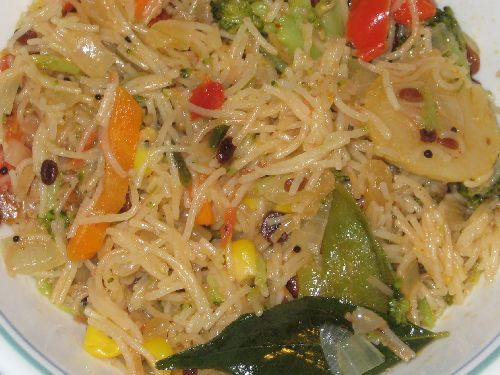 Vermicelli Noodle / Semiya Upma with Vegetables