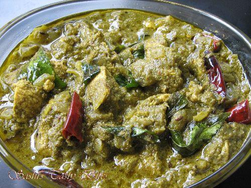 Gongura Chicken Gravy / Pulichakeerai Chicken Gravy