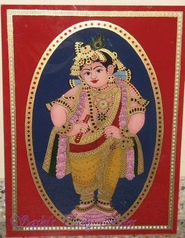 ReverseGlassPainting-Krishna