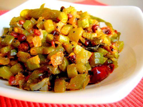 Snake Gourd Fry/ Pudalankai Varuval
