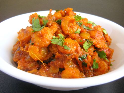 Prawns Tomato Fry / Thakkali Shrimp Masala