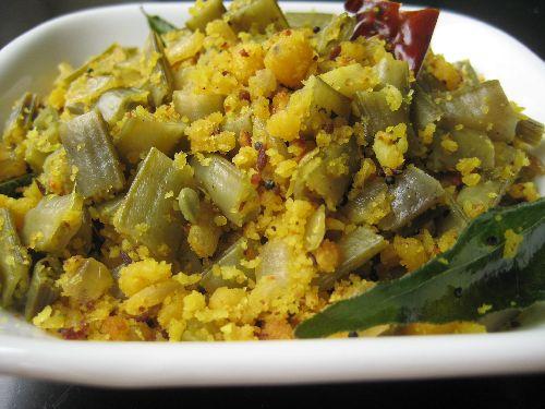 Kothavarangai Paruppu Usili / Cluster Beans Channa Usli ( Iyengar )