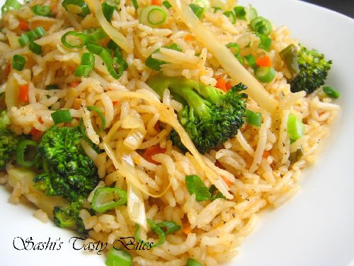 Chinese Vegetable Fried Rice ( An Indian Version )