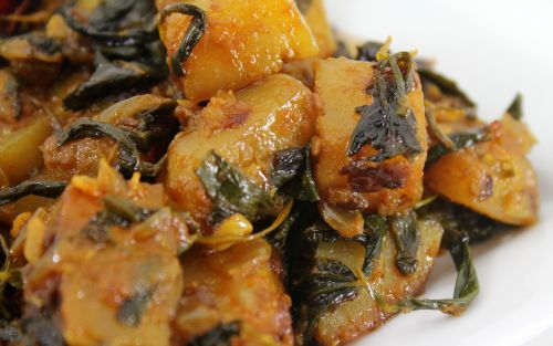 Aloo Methi Subzi/ Fenugreek Potato Fry