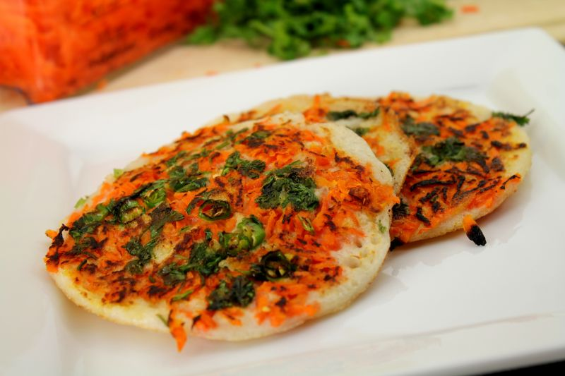 Carrot Uthappam  Oothappam (1)